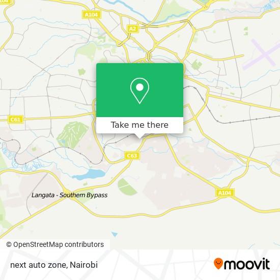 next auto zone map