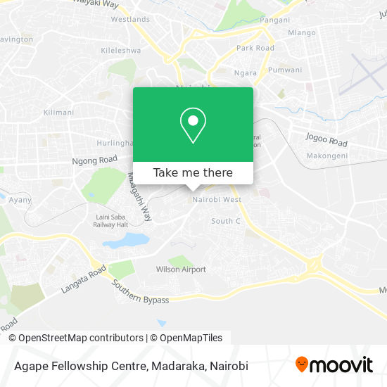 Agape Fellowship Centre, Madaraka map