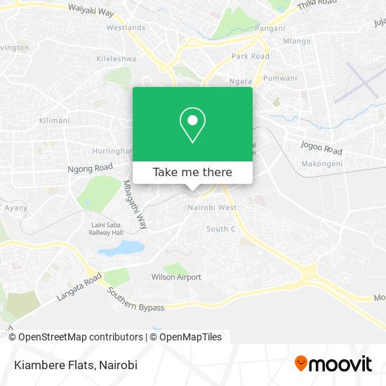 Kiambere Flats map