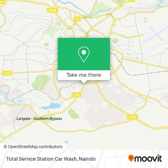 Total Service Station Car Wash map
