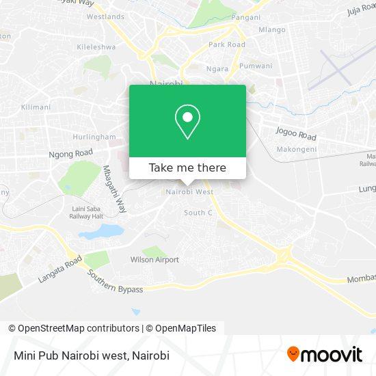 Mini Pub Nairobi west map