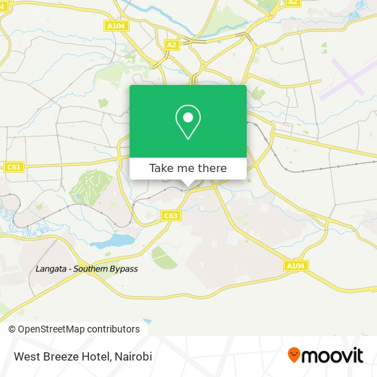 West Breeze Hotel map