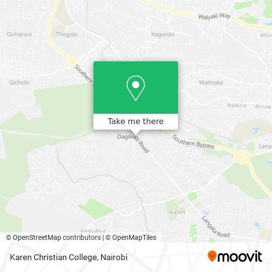 Karen Christian College map