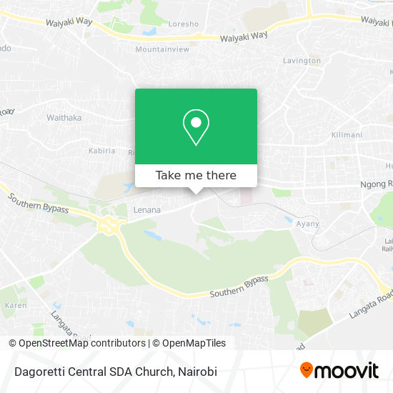 Dagoretti Central SDA Church map