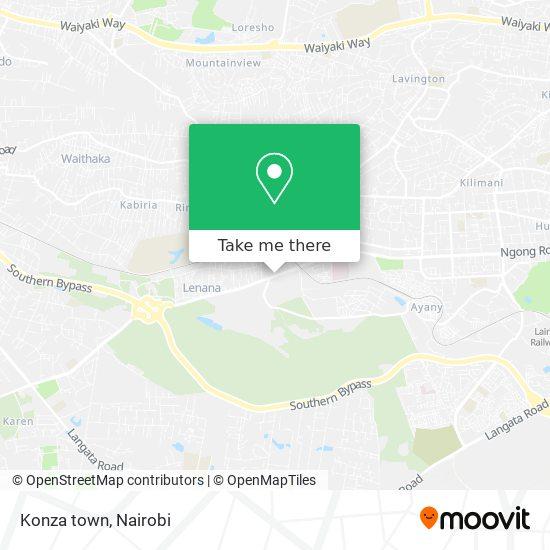 Konza town map