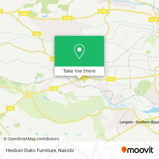 Hesbon Ouko Furniture map