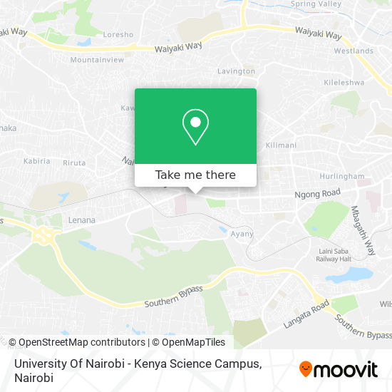 University Of Nairobi - Kenya Science Campus map