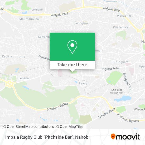 """Impala Rugby Club """"Pitchside Bar"""" map"""