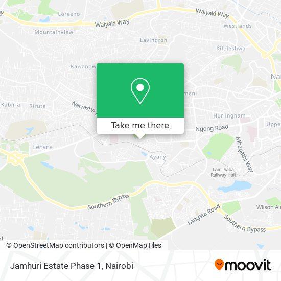 Jamhuri Estate Phase 1 map