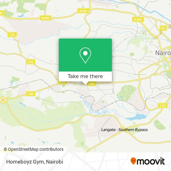 Homeboyz Gym map