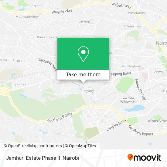 Jamhuri Estate Phase II map