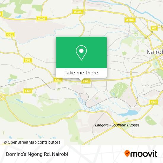 Domino's Ngong Rd map