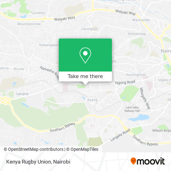 Kenya Rugby Union map