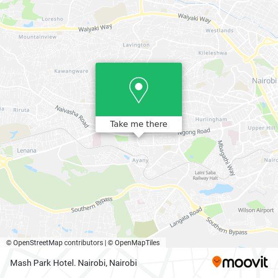 Mash Park Hotel. Nairobi map