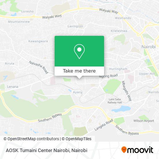 AOSK Tumaini Center Nairobi map