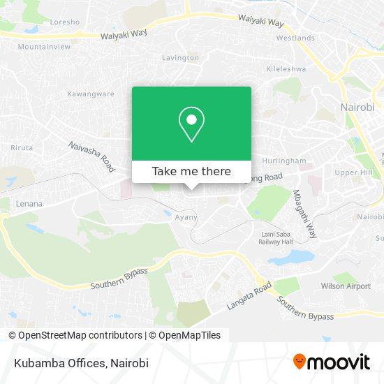 Kubamba Offices map