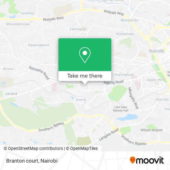 Branton court map