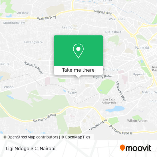Ligi Ndogo S.C map