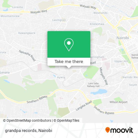 grandpa records map