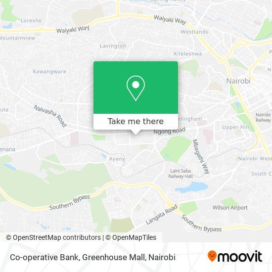 Co-operative Bank, Greenhouse Mall map