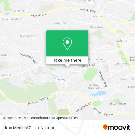 Iran Medical Clinic map