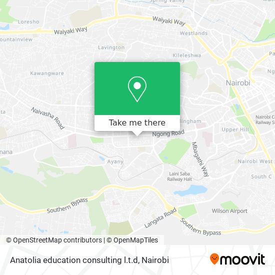 Anatolia education consulting l.t.d map