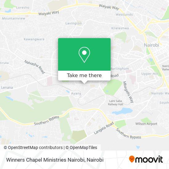 Winners Chapel Ministries Nairobi map