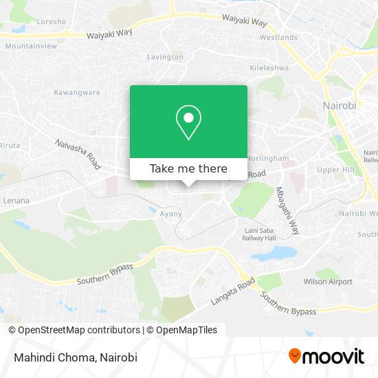 Mahindi Choma map