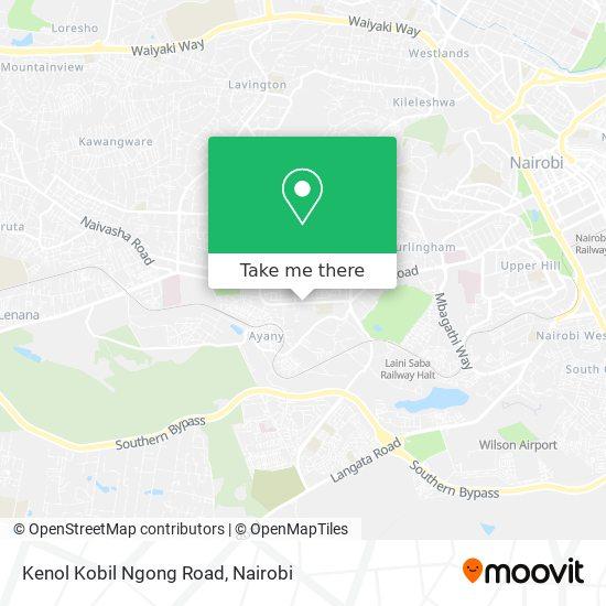 Kenol Kobil Ngong Road map