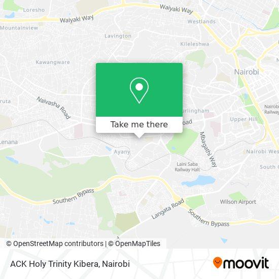 ACK Holy Trinity Kibera map