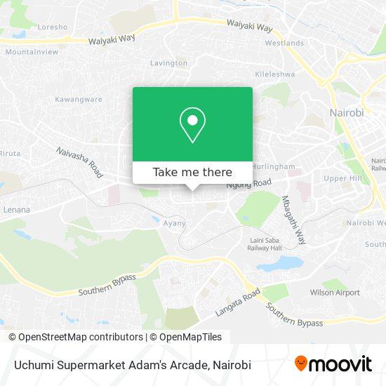 Uchumi Supermarket Adam's Arcade map