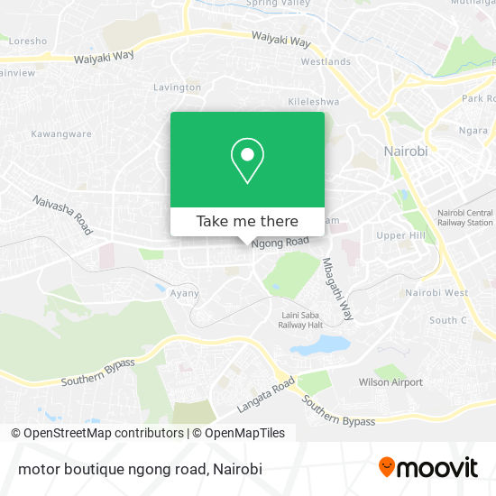 motor boutique ngong road map