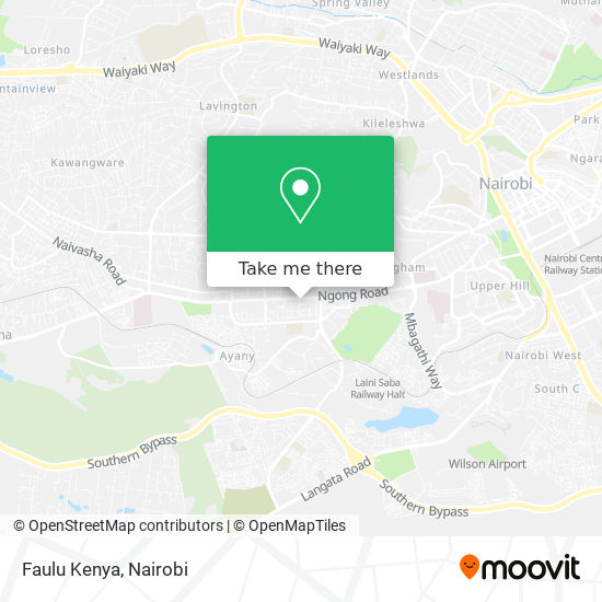 Faulu Kenya map