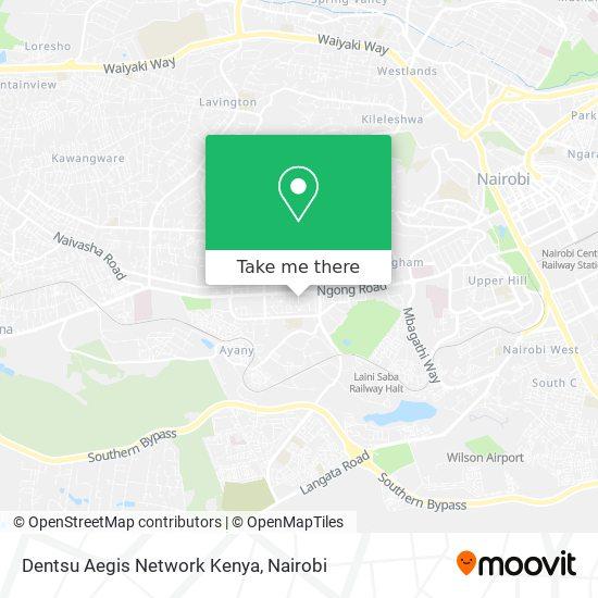 Dentsu Aegis Network Kenya map