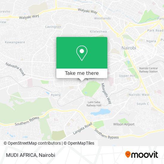 MUDI AFRICA map
