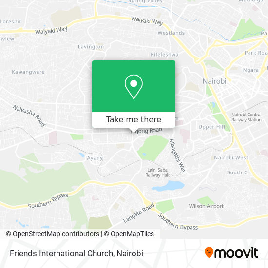Friends International Church map