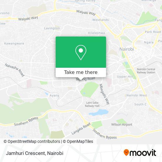 Jamhuri Crescent map