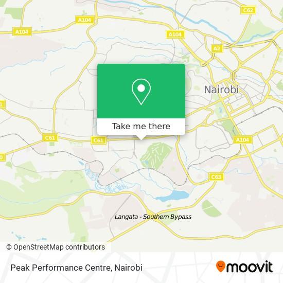 Peak Performance Centre map