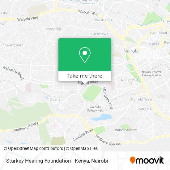 Starkey Hearing Foundation - Kenya map