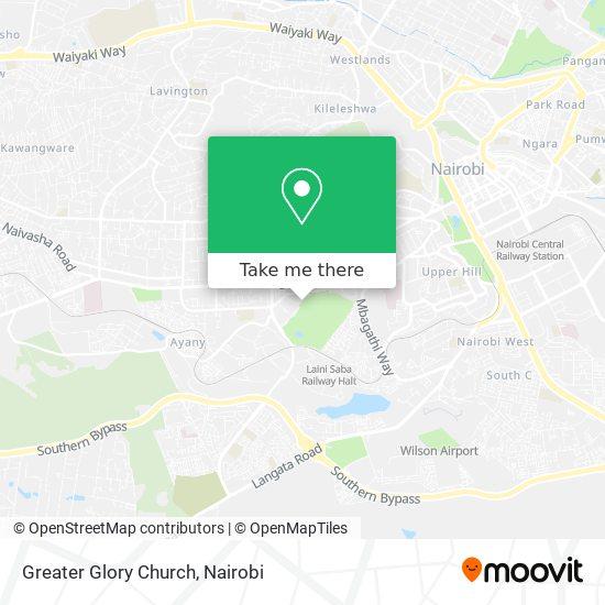 Greater Glory Church map