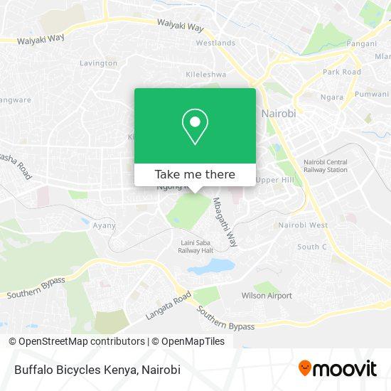 Buffalo Bicycles Kenya map