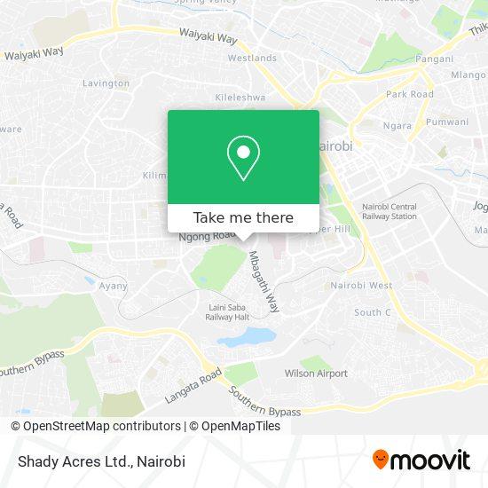 Shady Acres Ltd. map