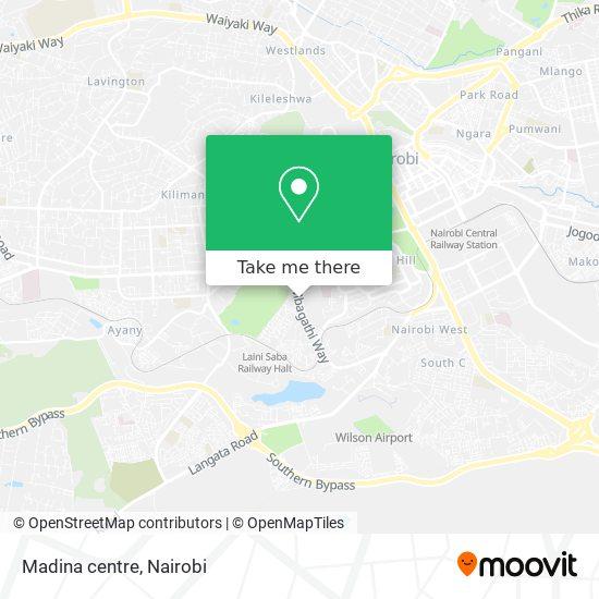 Madina centre map