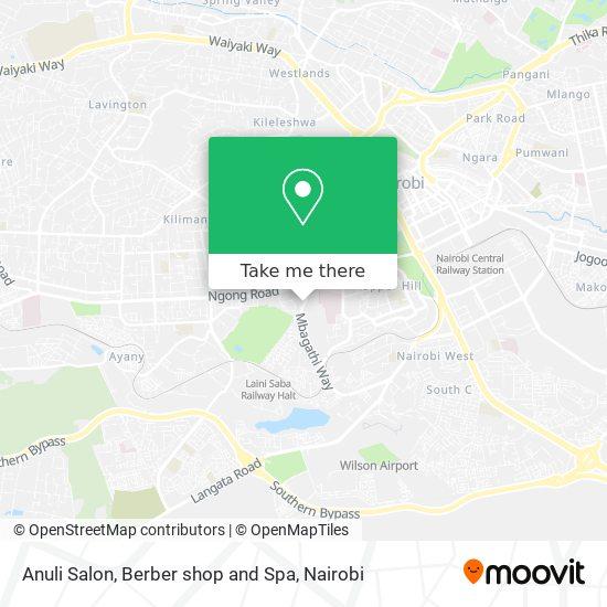 Anuli Salon, Berber shop and Spa map