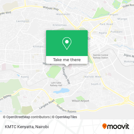 KMTC Kenyatta map