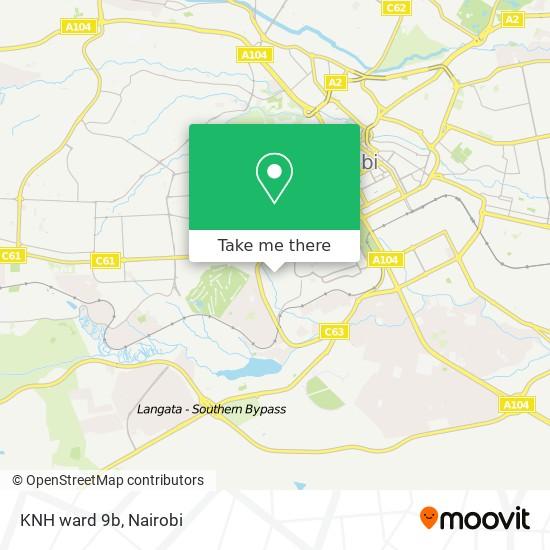 KNH ward 9b map