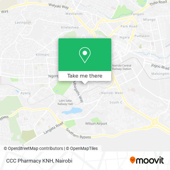 CCC Pharmacy KNH map