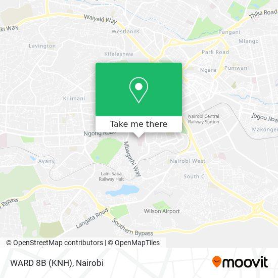 WARD 8B (KNH) map