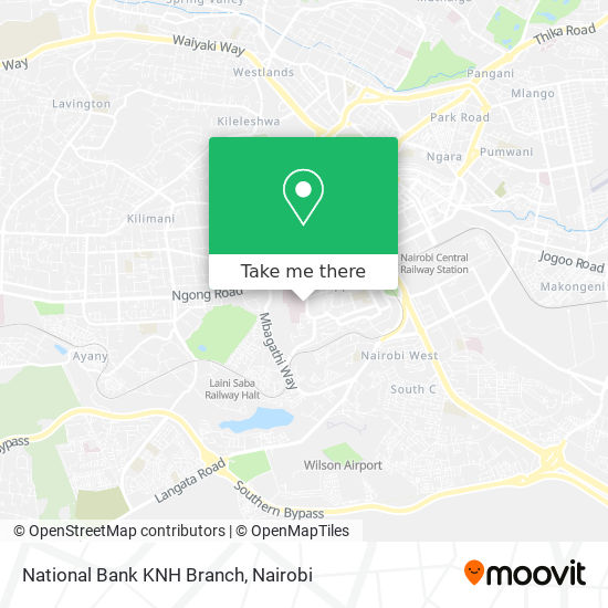 National Bank KNH Branch map