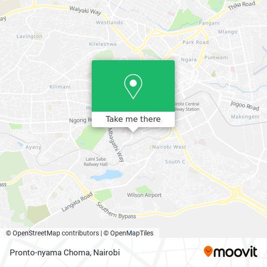 Pronto-nyama Choma map
